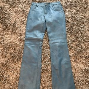 Theory Bootcut Leather Pants